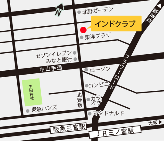 Map of India club Kobe