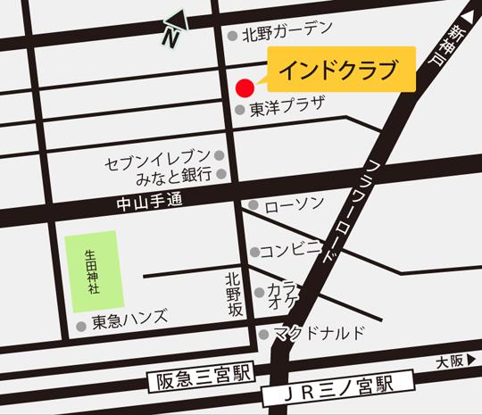 Map of India club Kobe